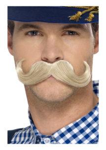 fausse moustache, postiche, moustache blonde, moustache de bavarois, moustache oktoberfest, fausses moustaches, moustache de déguisement, Moustache de Bavarois, Blonde