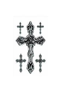 faux tatouages, tatouages temporaires, tatouages croix, faux tatouages religieux halloween, Tatouages Temporaires, Croix