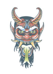 tatouage temporaire, faux tatouages, tatouages Halloween, tatouage diable, tatouage démon, Tatouages Temporaires, Démon