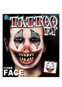 tatouage temporaire, faux tatouage, faux tatouage déguisement, faux tatouage halloween, maquillage halloween, faux tatouage blessures, faux tatouages effets spéciaux déguisement, faux tatouage clown effrayant, Tatouages Temporaires, Clown Killer
