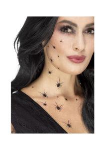 faux tatouages araignées, faux tatouages halloween, tatoos halloween, tattoos halloween, tatouages temporaires, maquillage araignée, Tatouages Temporaires, Araignées