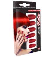 faux ongles rouges, faux ongles halloween, maquillage halloween, faux ongles déguisement Faux Ongles Rouges, autoadhésifs