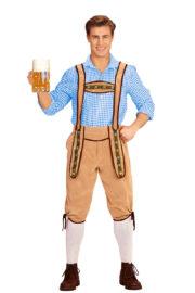 déguisement bavarois homme, costume bavarois homme, déguisement tyrolien homme, costume tyrolien homme, salopette bavaroise déguisement, déguisement homme, déguisement fête de la bière, déguisement oktoberferst Déguisement Bavarois, Salopette Crème