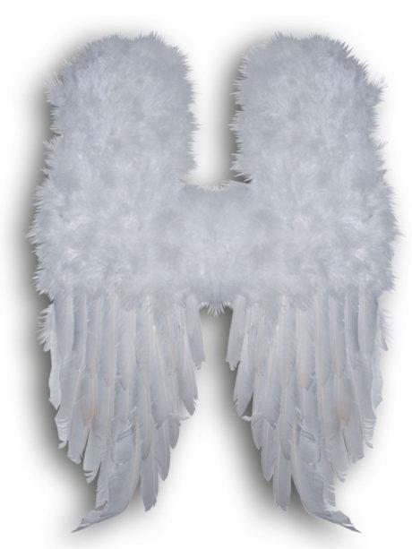 ailes d'anges, ailes de déguisement, ailes pour se déguiser, ailes d'anges, ailes d'ange, ailes en plumes, ailes blanches Ailes d'Ange en Plumes Blanches, 60 cm