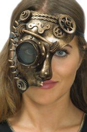 masque steampunk, accessoire steampunk, steampunk halloween, masque steampunk, loup steampunk Masque Steampunk, Rouages et Ressort, Bronze