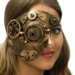 masque steampunk, accessoire steampunk, steampunk halloween, masque steampunk, loup steampunk Masque Steampunk, Rouages et Pointes, Bronze