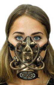 masque à gaz steampunk, masque steampunk, accessoire steampunk, steampunk halloween, masque steampunk Masque à Gaz Steampunk, Bronze Vieilli