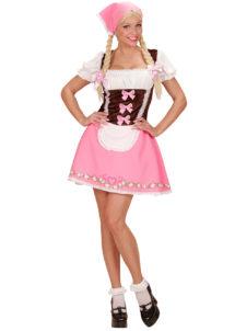 déguisement de bavaroise, déguisement Oktoberfest, costume bavaroise femme, costume Oktoberfest femme, Déguisement de Bavaroise, Oktoberfest, Rose