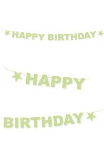 GUIRLANDE-ANNIVERSAIRE-PAILLETTES-OR, Guirlande Anniversaire, Happy Birthday, Or Paillettes