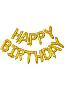 guirlande ballons, guirlande de ballons anniversaire, Guirlande de Ballons Happy Birthday, Doré