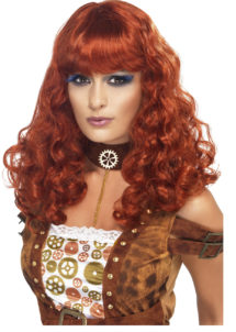 perruque steampunk, perruque rousse, perruque femme paris, perruque rousse pour femme, perruque cyberpunk, perruque steampunk, perruque rousse, Perruque Steampunk, Rousse