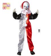 décoration halloween, décoration clown tueur halloween, décorations clowns halloween, décos halloween, décoration clown de la mort Suspension Clown Killer, Yeux Lumineux