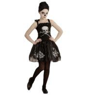 déguisement halloween fille, costume halloween fille, déguisement squelette ballerine fille, déguisement danseuse de la mort fille, costume halloween enfant Déguisement de Ballerine Squelette, Fille