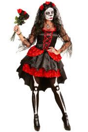 déguisement jour des morts, déguisement halloween femme, déguisement dia de los muertos, déguisement mort mexicaine, costume halloween pour femme, déguisement jour des morts femme halloween Déguisement Jour des Morts, avec Voile et Fleurs