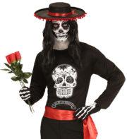 déguisement jour des morts mexicain, accessoire jour des morts, déguisement homme halloween, déguisement halloween homme, déguisement mort mexicaine homme, déguisement dia de los muertos Déguisement Jour des Morts, T-shirt Homme
