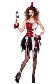 déguisement arlequine sinistre, déguisement clown halloween femme, déguisement halloween femme, déguisement de clown arlequin sinistre Déguisement Clown Arlequine Sinistre
