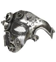 masque steampunk, accessoire steampunk, steampunk halloween, masque steampunk, loup steampunk Masque Steampunk, Acier Silver Rouages
