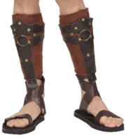 accessoire romain, accessoire gladiateur déguisement, couvre tibias gladiateur romains, accessoires déguisement gladiateur, sandales romaines Couvre-Tibias de Gladiateur Romain