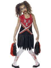 déguisement halloween fille, déguisement pompom girl zombie fille, déguisement cheerleader zombie fille, costume halloween fille, déguisement fille halloween Déguisement de Cheerleader Zombie, Pompom Fille