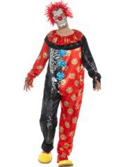 déguisement clown halloween, déguisement clown jour des morts, déguisement clown effrayant homme, déguisement halloween homme, déguisement de clown mort mexicaine, déguisement clown jour des morts Déguisement de Clown Deluxe, Jour des Morts