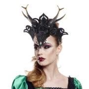 cornes de maléfique, serre tête maléfique halloween, coiffe halloween, accessoires contes et légendes, cornes sorcière des bois, cornes halloween Cornes de Maléfique, Sorcière des Bois