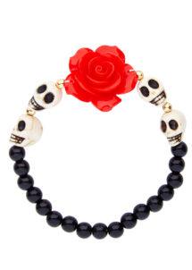 bracelet jour des morts, bijoux jour des morts mexicains, bijoux dia de los muertos, accessoire jour des morts, accessoire mort mexicaine, Bracelet Jour des Morts Mexicain