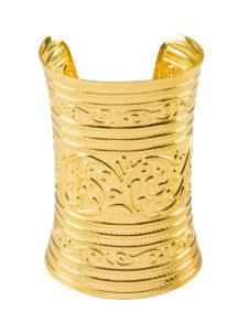 bracelet manchettes, bracelet bronze, bracelets déguisement cleopatre, bijoux cléopatre pas cher, bracelet romain pas cher, bijoux de déguisement pas cher, bracelet médiéval, Bracelet Manchette en Métal Doré