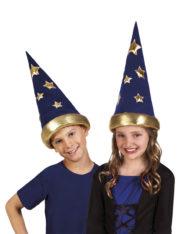 chapeau magicien enfant, chapeau de sorcier enfant, chapeau de magicien étoiles, accessoire magicien enfant Chapeau de Magicien, Etoiles, Enfant