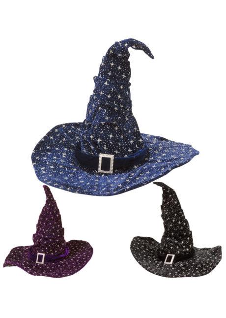 chapeaux halloween, chapeaux de sorcière, accessoires sorcières, déguisement de sorcière, chapeaux de sorcellerie, chapeau de sorcier, chapeau de sorcellerie, Chapeau de Sorcier, Velours et Etoiles