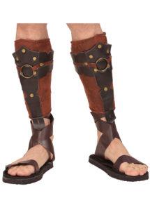 accessoire romain, accessoire gladiateur déguisement, couvre tibias gladiateur romains, accessoires déguisement gladiateur, sandales romaines, Couvre-Tibias de Gladiateur Romain