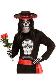 déguisement jour des morts mexicain, accessoire jour des morts, déguisement homme halloween, déguisement halloween homme, déguisement mort mexicaine homme, déguisement dia de los muertos, Déguisement Jour des Morts, T-shirt Homme