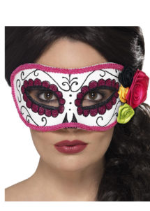masque squelette mexicain, masque de déguisement, masque mexicain halloween, masque déguisement halloween, accessoire déguisement halloween masque, masque dia de los muertos, masque dia de la muerte, masque halloween, masque halloween day of death, jour des morts mexicain, masque jour de morts adulte, masque halloween femme, Loup Jour des Morts, avec Fleurs
