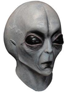 masque alien, masque d'alien, accessoire déguisement alien, masques halloween, masque halloween latex, masque futuriste, déguisement futuriste alien, Masque d'Alien, Intégral, en Latex