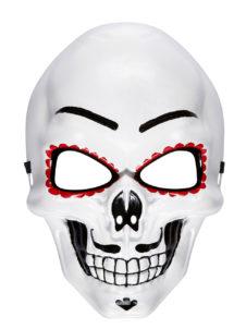masque squelette mexicain, masque de déguisement, masque mexicain halloween, masque déguisement halloween, accessoire déguisement halloween masque, masque dia de los muertos, masque dia de la muerte, masque halloween, masque halloween day of death, jour des morts mexicain, masque jour de morts adulte, masque halloween femme, Masque Jour des Morts Mexicain