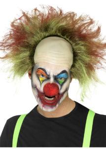 perruque de clown, clowns effrayants accessoires, perruque clown effrayant, perruque clowns tueurs, accessoire déguisement clown effrayant, Perruque de Clown Sinistre, Scary Clown