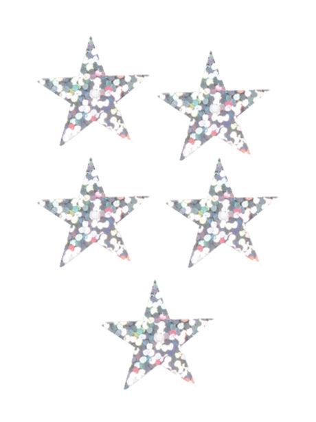 décorations de noël, décos de noël, décorations de réveillon, confettis de table, confettis étoiles Confettis de Table, Etoiles Hologramme Argent