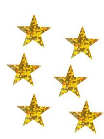 décorations de noël, décos de noël, décorations de réveillon, confettis de table, confettis étoiles, Confettis de Table, Etoiles Hologrammes Or