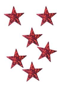 décorations de noël, décos de noël, décorations de réveillon, confettis de table, confettis étoiles, Confettis de Table, Etoiles Hologrammes Rouges