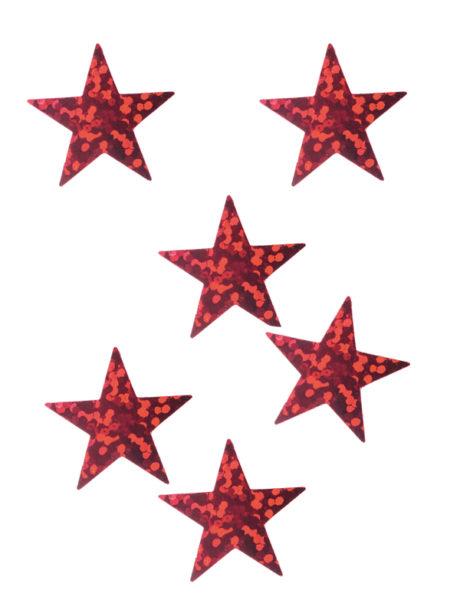 décorations de noël, décos de noël, décorations de réveillon, confettis de table, confettis étoiles Confettis de Table, Etoiles Hologrammes Rouges