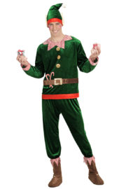 déguisement d'elfe pour adulte, costume d'elfe de noël, déguisement elfe de noël, déguisement elfe pour homme Déguisement d'Elfe du Père Noël, Vert Foncé
