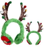 serre tête cornes de renne, chapeau de noel, chapeaux de noël, accessoires noël, serre tête oreilles de renne Cornes de Renne sur Protège Oreilles