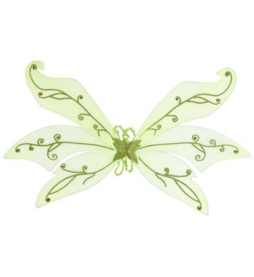 ailes de fée verte, ailes vertes de fée, ailes de fée clochette, ailes de déguisement, accessoires déguisements de fée Ailes de Fée Vertes, 3 rangées et Paillettes