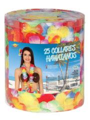 collier hawaïen, collier hawaï, collier de fleurs hawaïen, collier de fleurs hawaï, collier de fleurs hawaïen pas cher Collier de Fleurs Hawaïen Multicolore, Boite de 25