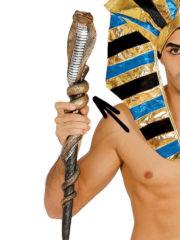 sceptre égyptien, accessoire déguisement pharaon, bâton égyptien serpent, sceptre egypte, sceptre de pharaon, accessoire égyptien Sceptre Egyptien, Cobra sur Bâton