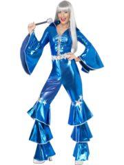 déguisement disco abba, combinaison disco abba, déguisement combinaison disco, déguisement disco brillant Déguisement Disco, Combinaison Abba Bleu Métal