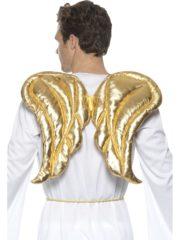 ailes d'ange dorées, ailes de cupidon, ailes dorées, ailes d'or, ailes d'ange dorées, ailes de cupidon dorées Ailes d'Ange Dorées, en Tissu Matelassé Shiny