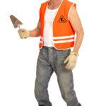 gilet de travaux, gilet men at work, gilet de chantier déguisement, déguisement gilet de chantier Gilet de Chantier Men at Work