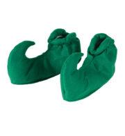 chaussures d'elfe, accessoire déguisement d'elfe, sur chaussures d'elfe, chaussures de lutin, sur-chaussures de lutins, couvre chaussures d'elfe vertes Sur-chaussures d'Elfe ou de Lutin, Vert Foncé