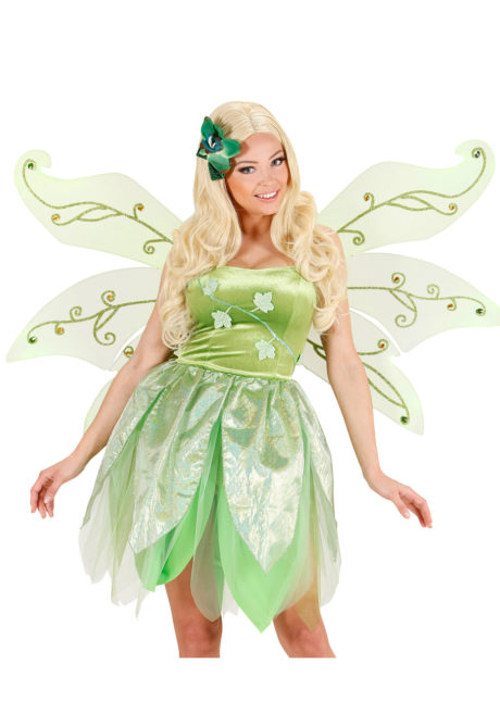 ailes de fée verte, ailes vertes de fée, ailes de fée clochette, ailes de déguisement, accessoires déguisements de fée, Ailes de Fée Vertes, 3 rangées et Paillettes