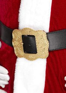 ceinture de père noël, accessoire costume père noël, accessoire déguisement père noël, grosse ceinture père noël, Ceinture de Père Noël, Luxe, Boucle XL Dorée